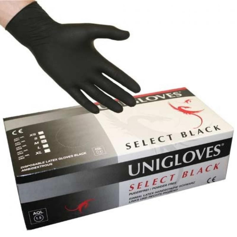 Černé latexové rukavice vel. S